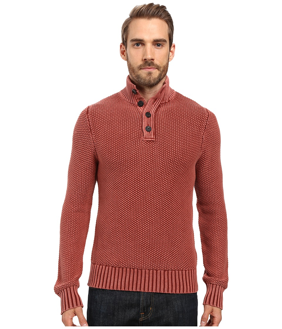 Lucky Brand - Mock Neck Sweater (Redwood) Men