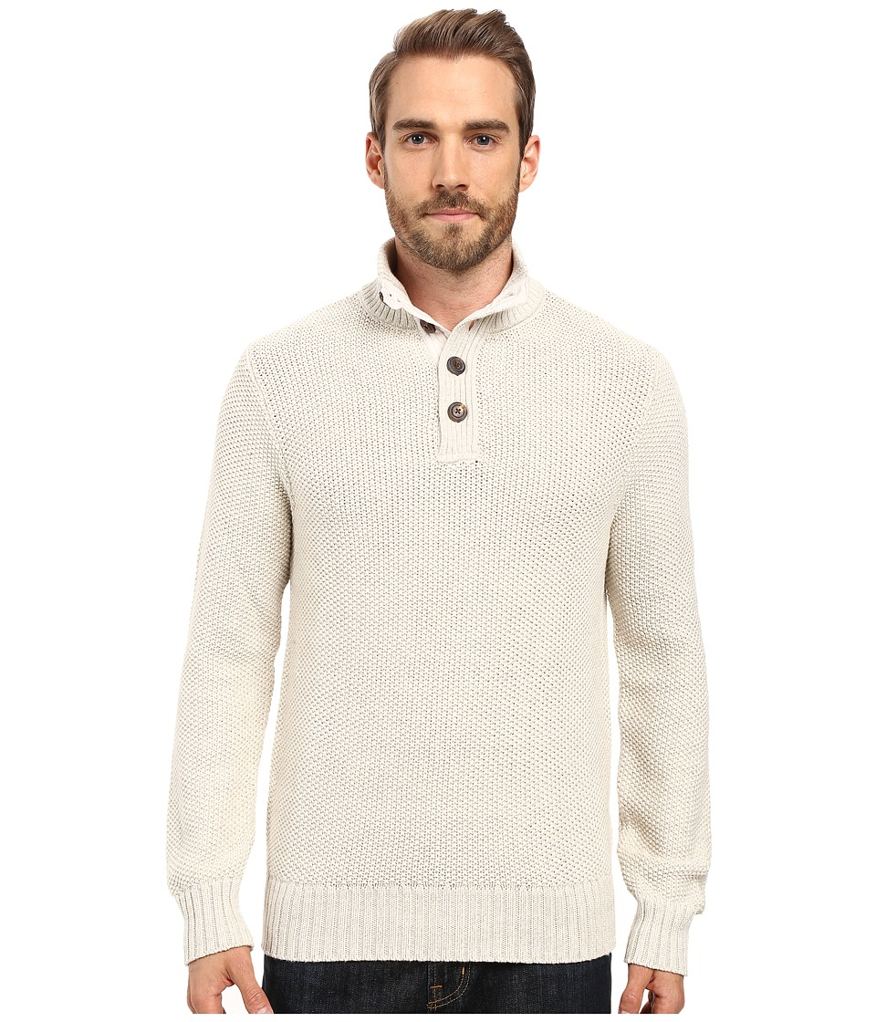 Lucky Brand - Mock Neck Sweater (Marshmallow) Men