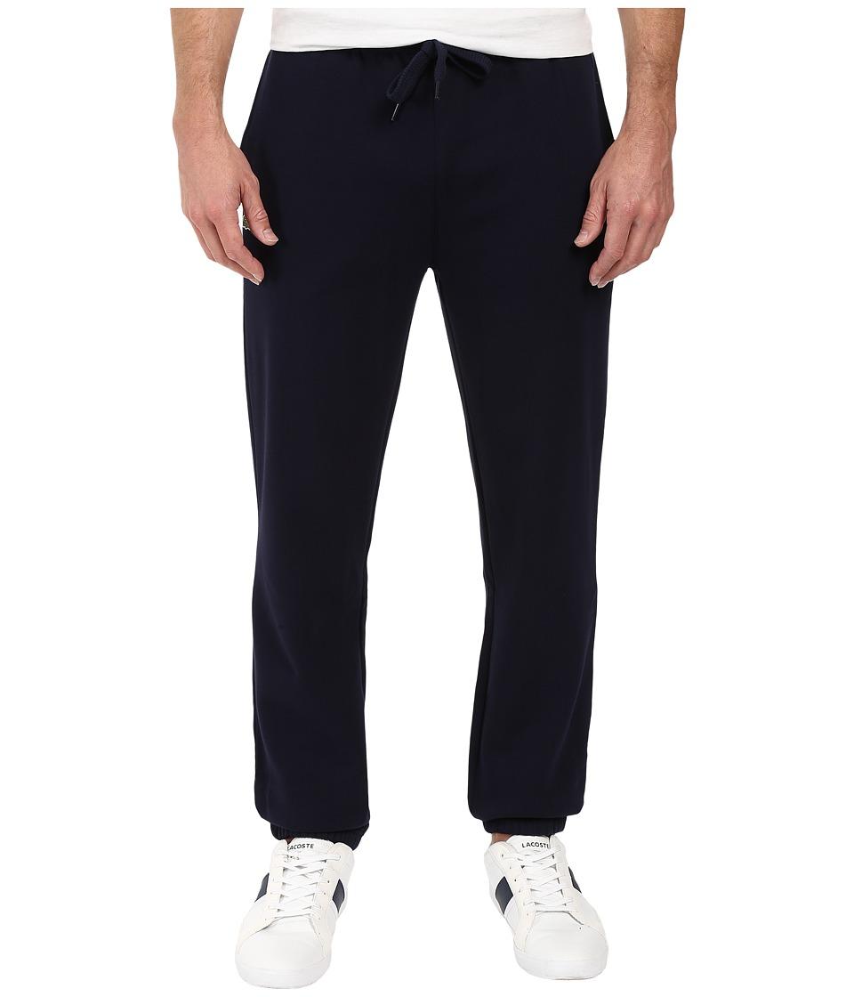 Lacoste - Sport Fleece Pants with Elastic Leg Opening (Navy Blue) Mens Casual Pants