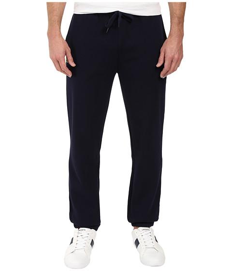 Lacoste Sport Fleece Pants with Elastic Leg Opening - Navy Blue