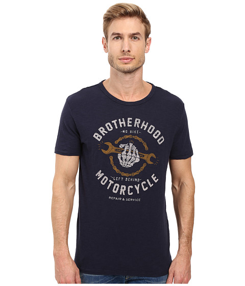 Lucky Brand Motorcycle Repair Graphic Tee