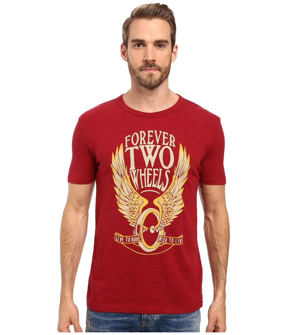 Lucky Brand - Forever Two Wheels Graphic Tee (Biking Red) Men