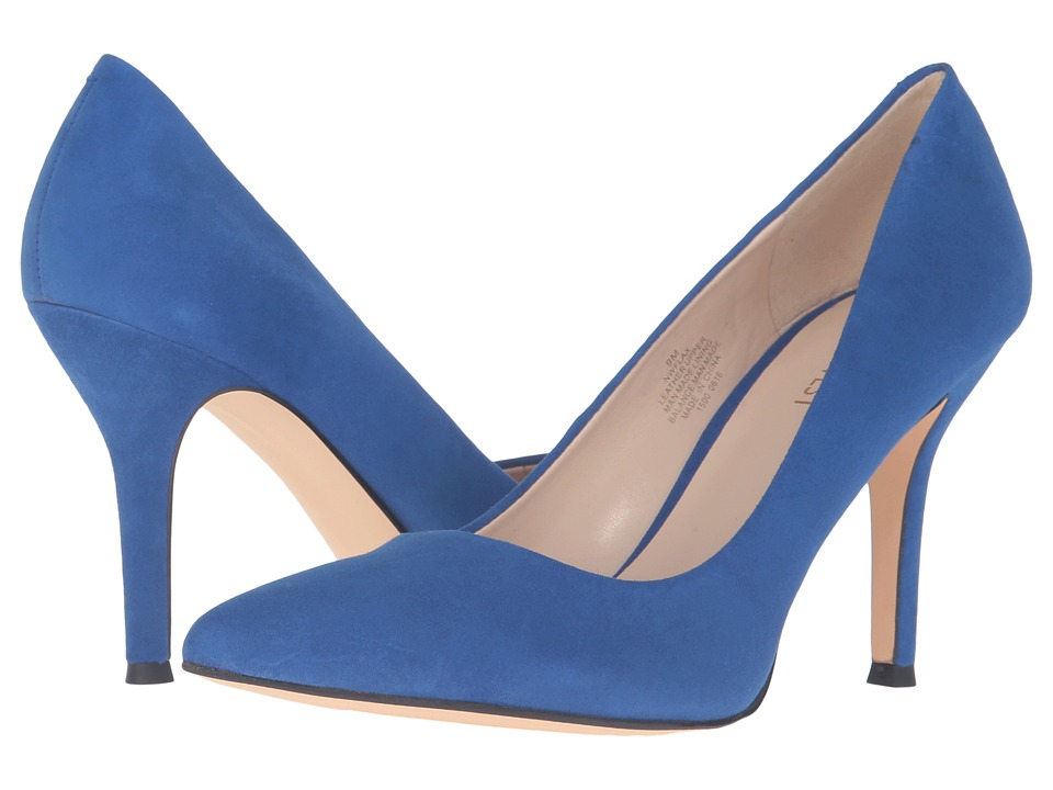 Nine West Flax (Blue Kid Suede) High Heel Shoes