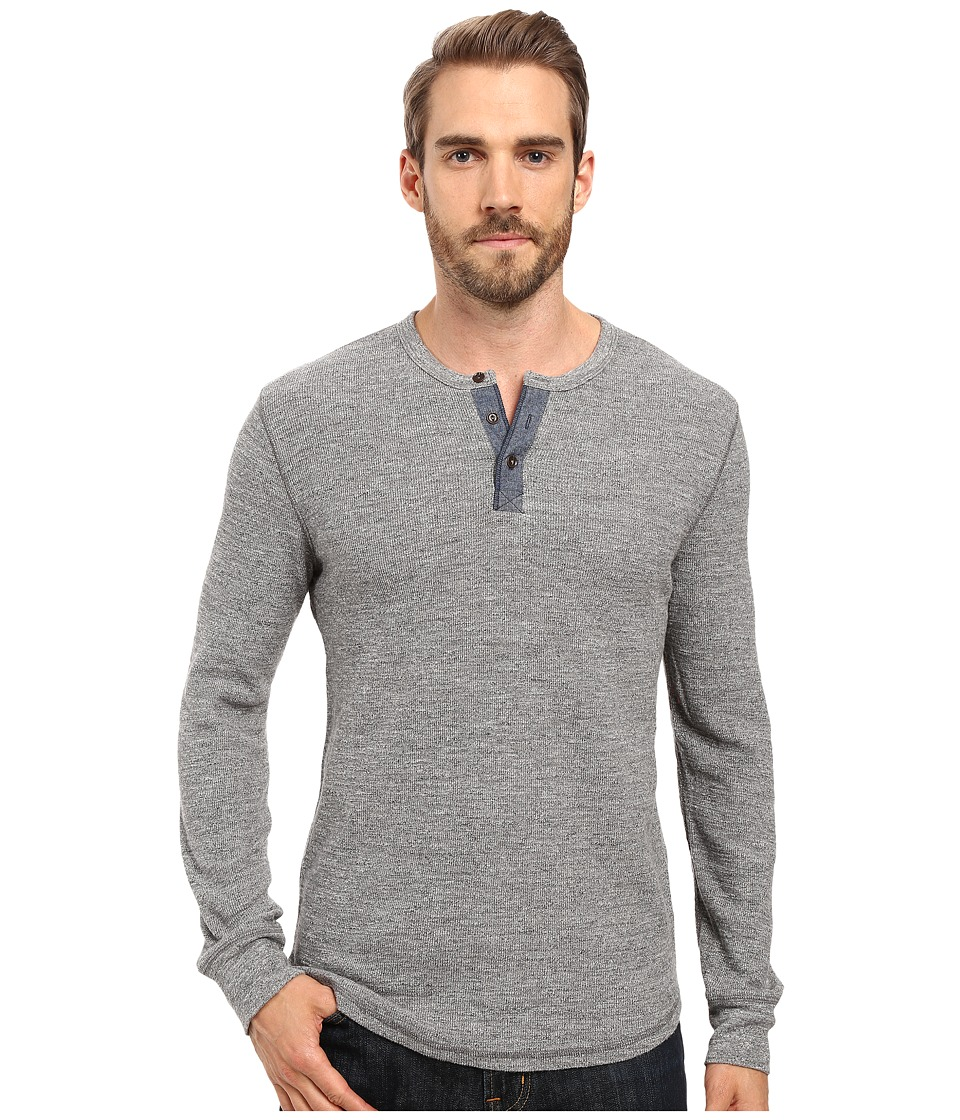 Lucky Brand - Thermal Henley (Heather Grey) Men