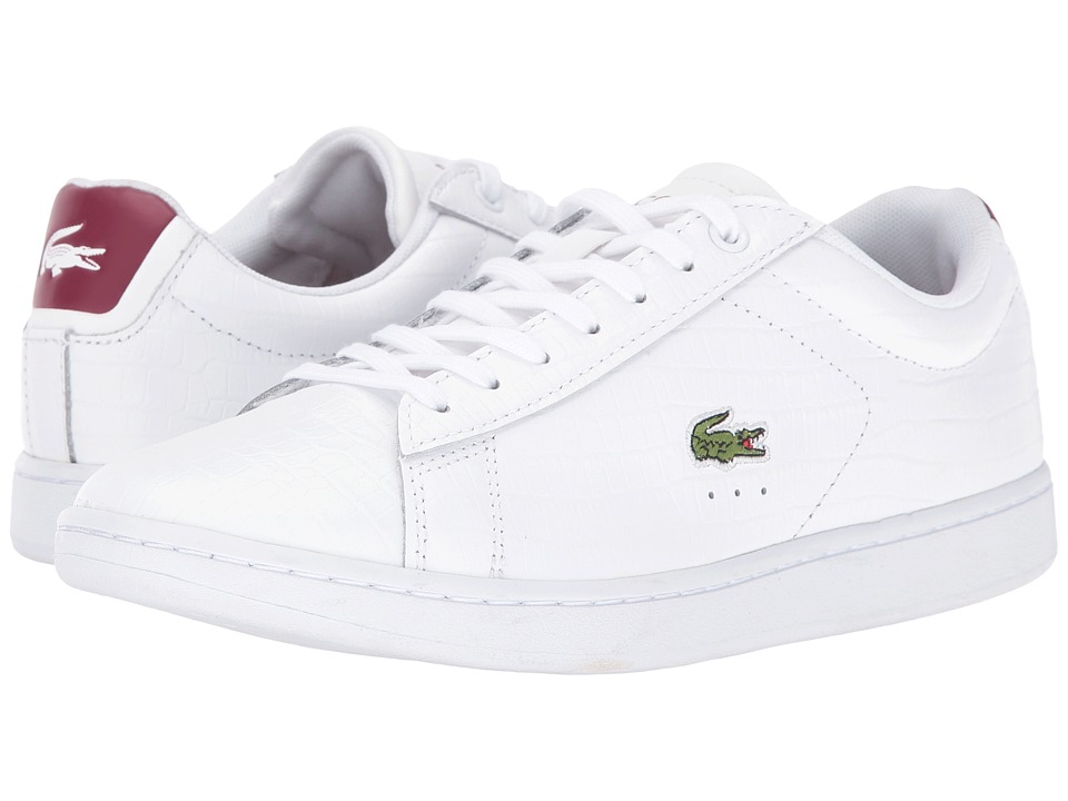 Lacoste - Carnaby Evo G316 8 (White/Red) Women