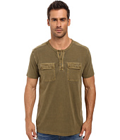 Lucky Brand - Short Sleeve Two-Pocket Henley