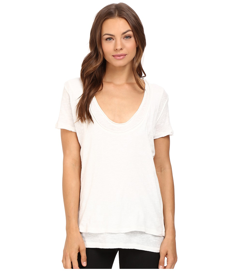 Free People Phoebe Tee (Ivory) Women