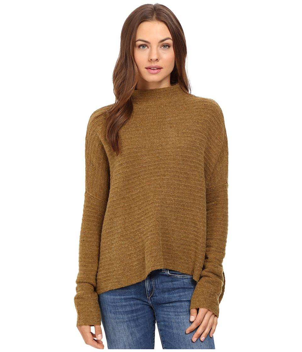 Free People Arctic Fox Zip Back Sweater (Moss) Women