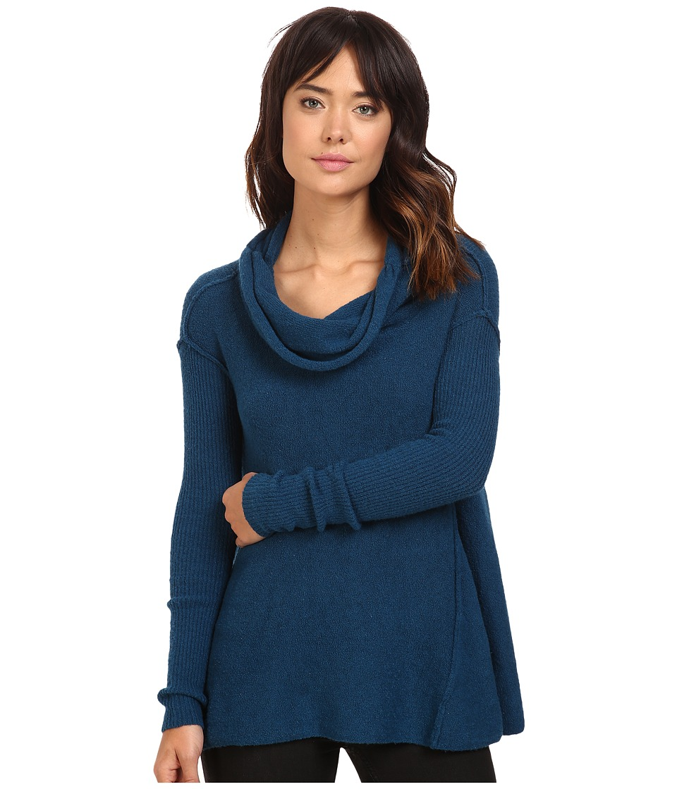 Free People - Strawberry Fields Off the Shoulder Sweater (Blue) Women