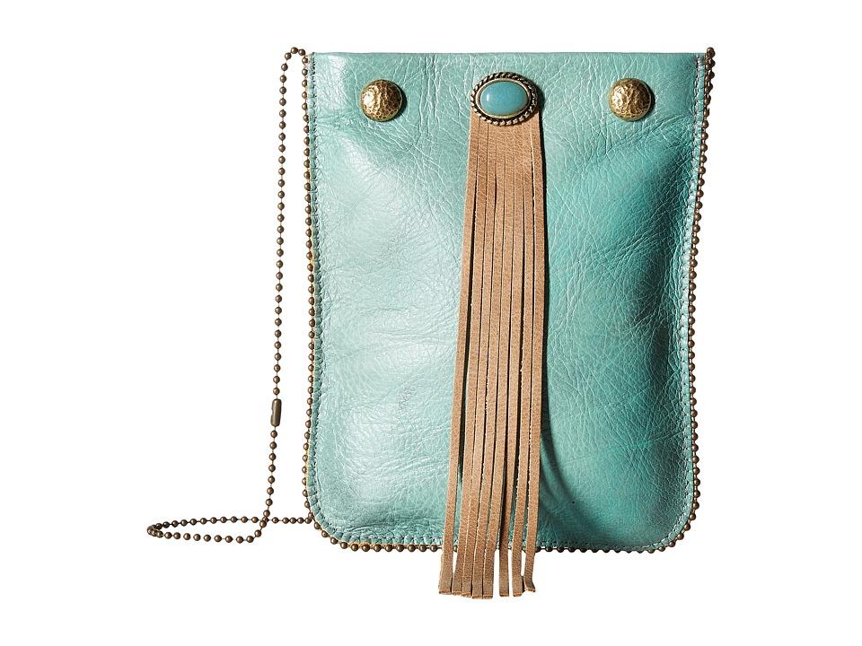 Leatherock - CE37 (Louisiana Nappa Turquoise/Vermont Almond) Cross Body Handbags