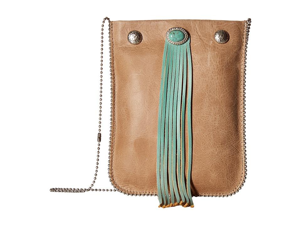 Leatherock - CE37 (Vermont Almond/Lousiana Nappa Turquoise) Cross Body Handbags