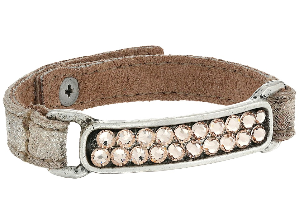 Leatherock - B737 (Vintage Silver/Gold/Antique Brass/Light Silk) Bracelet