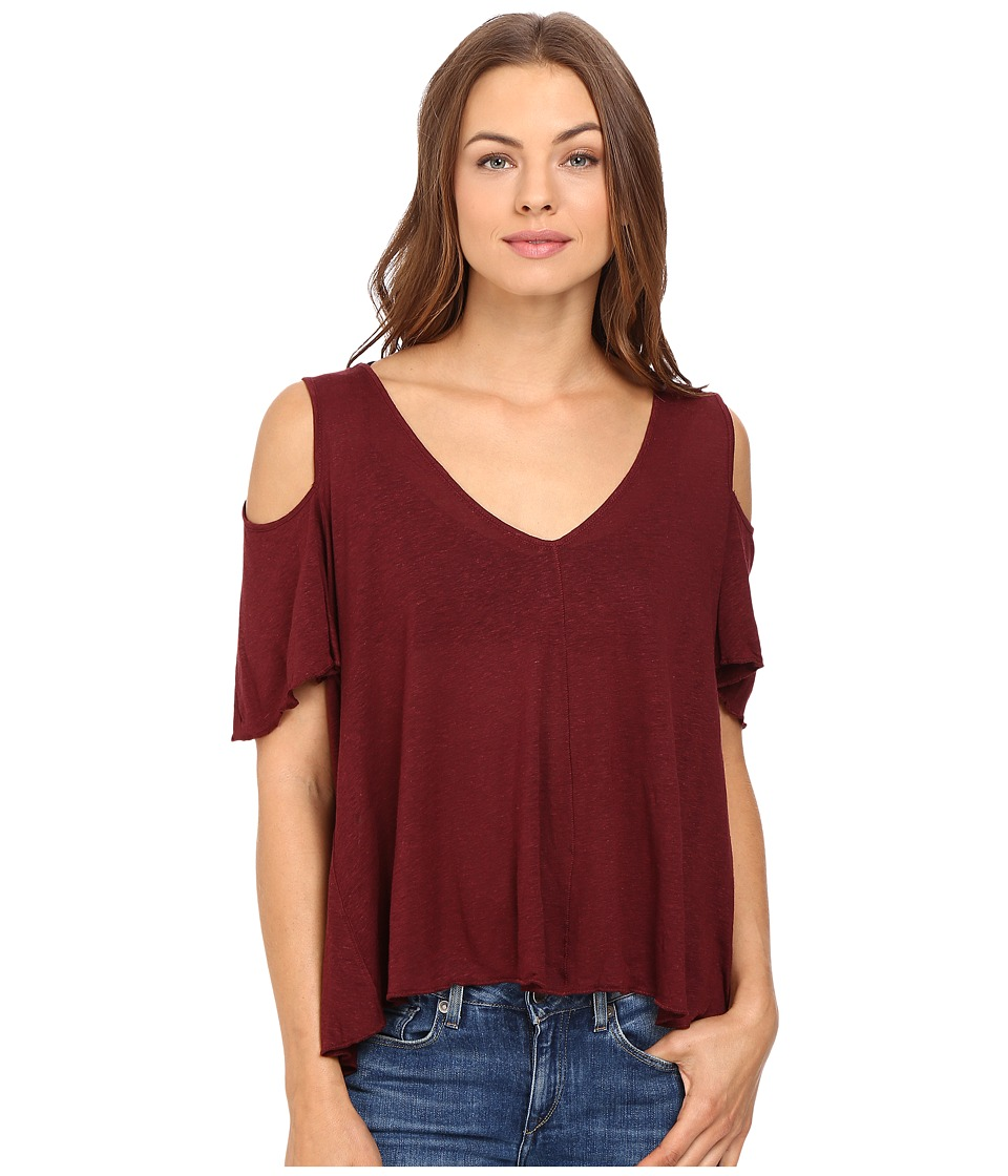 Free People Bittersweet Tee (Wine) Women
