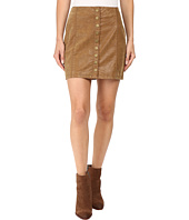 Free People - Oh Snap Mini Vegan Suede Skirt