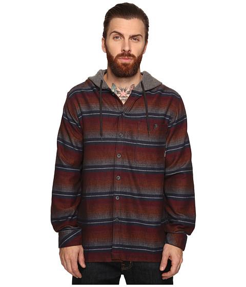 Billabong Baja Long Sleeve Heavyweight Hooded Flannel - Navy