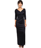 Tahari by ASL - Portrait Collar Long Sleeve Gown