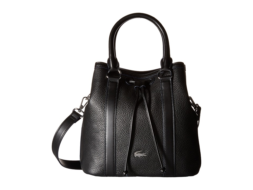 Lacoste - Renee Bucket Bag (Black) Handbags
