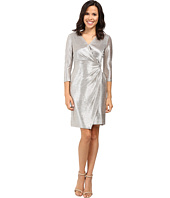 Tahari by ASL - Foil Knit Side Knot Dress