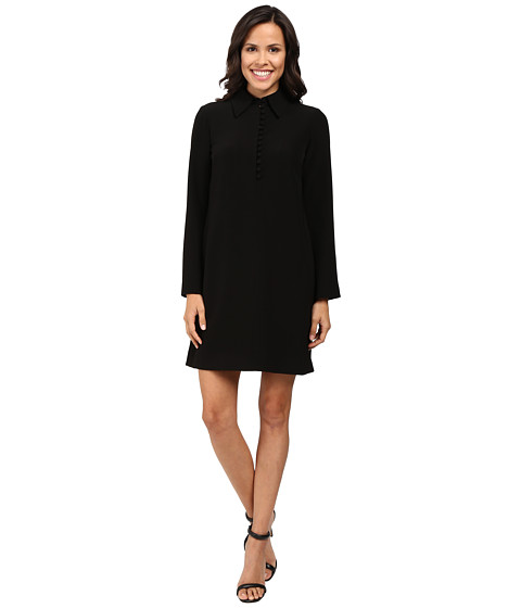 Tahari by ASL Trumpet Sleeve Collared Shift Dress