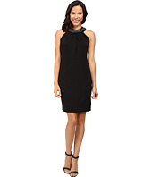 Tahari by ASL - Bejewled Halter Neck Sheath Dress