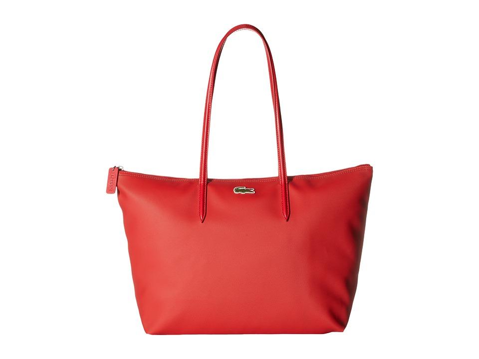 Lacoste - L.12.12 Concept Large Shopping Bag (Salsa) Tote Handbags
