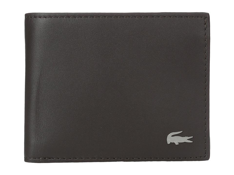 Lacoste - FG Small Billfold ID Slot (Dark Brown) Bill-fold Wallet
