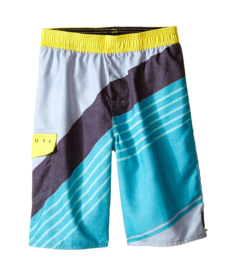 Rip Curl Kids Aggro Tilt Volley Swim Trunks Big Kids Teal Boys Swimwear