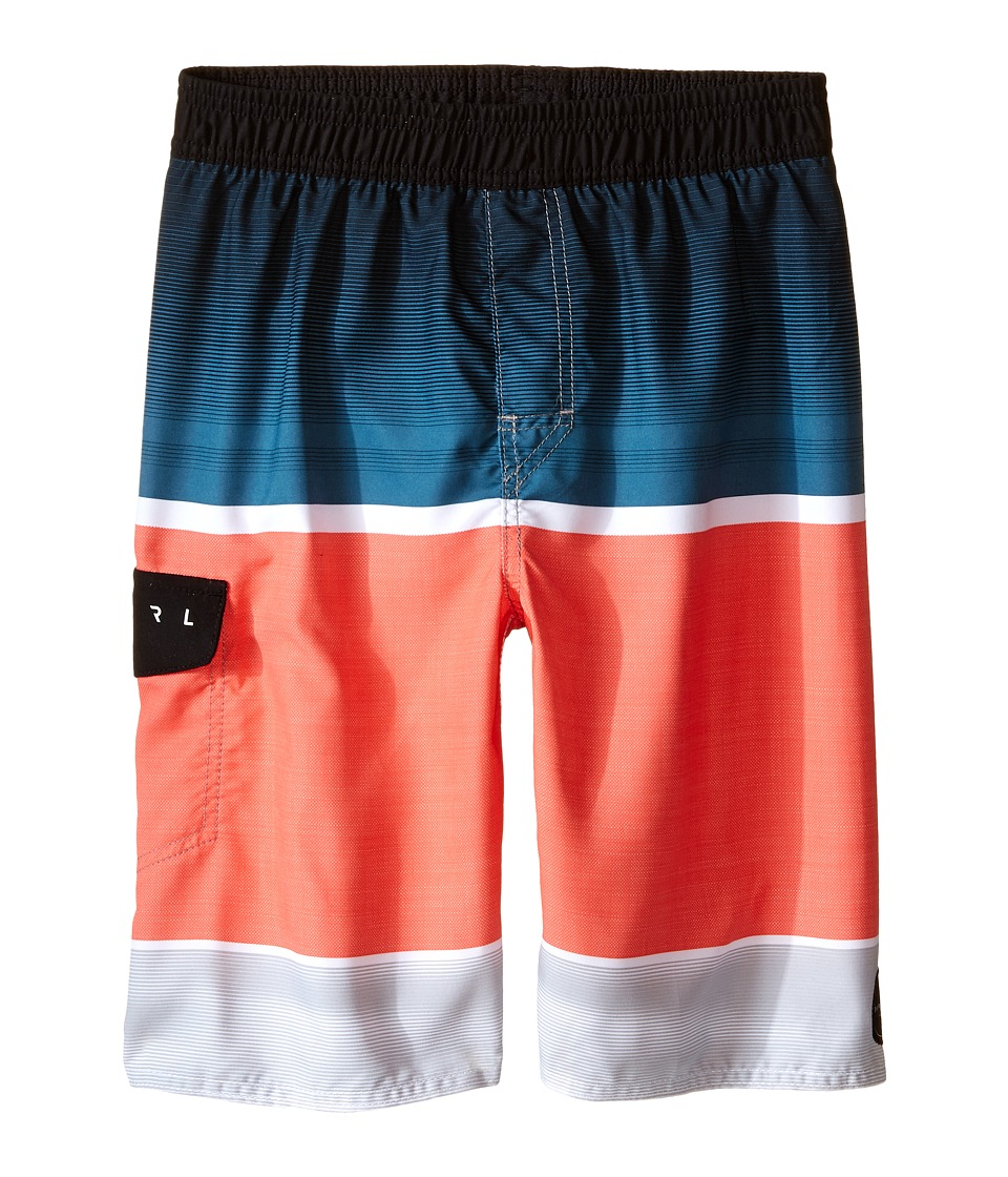 Rip Curl Kids Aggro Game Volley Swim Trunks Big Kids Coral Boys Swimwear
