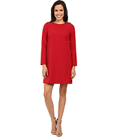 Adrianna Papell - Long Sleeve Shift Dress with Button Close Detail