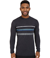 VISSLA - Alltime Stripe Long Sleeve Heathered Surf T-Shirt UPF 50