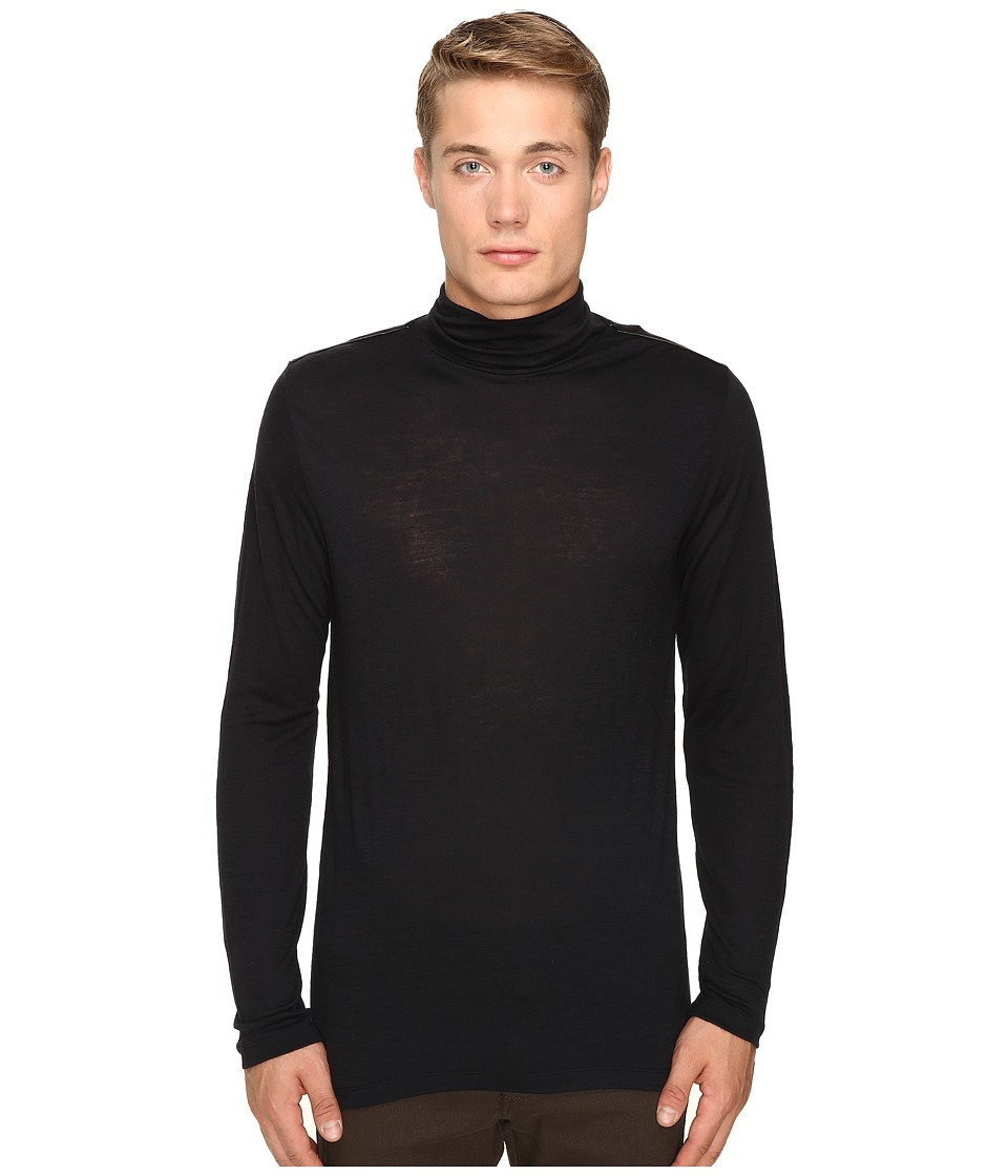 The Kooples Wooly Jersey Turtleneck (Black) Men