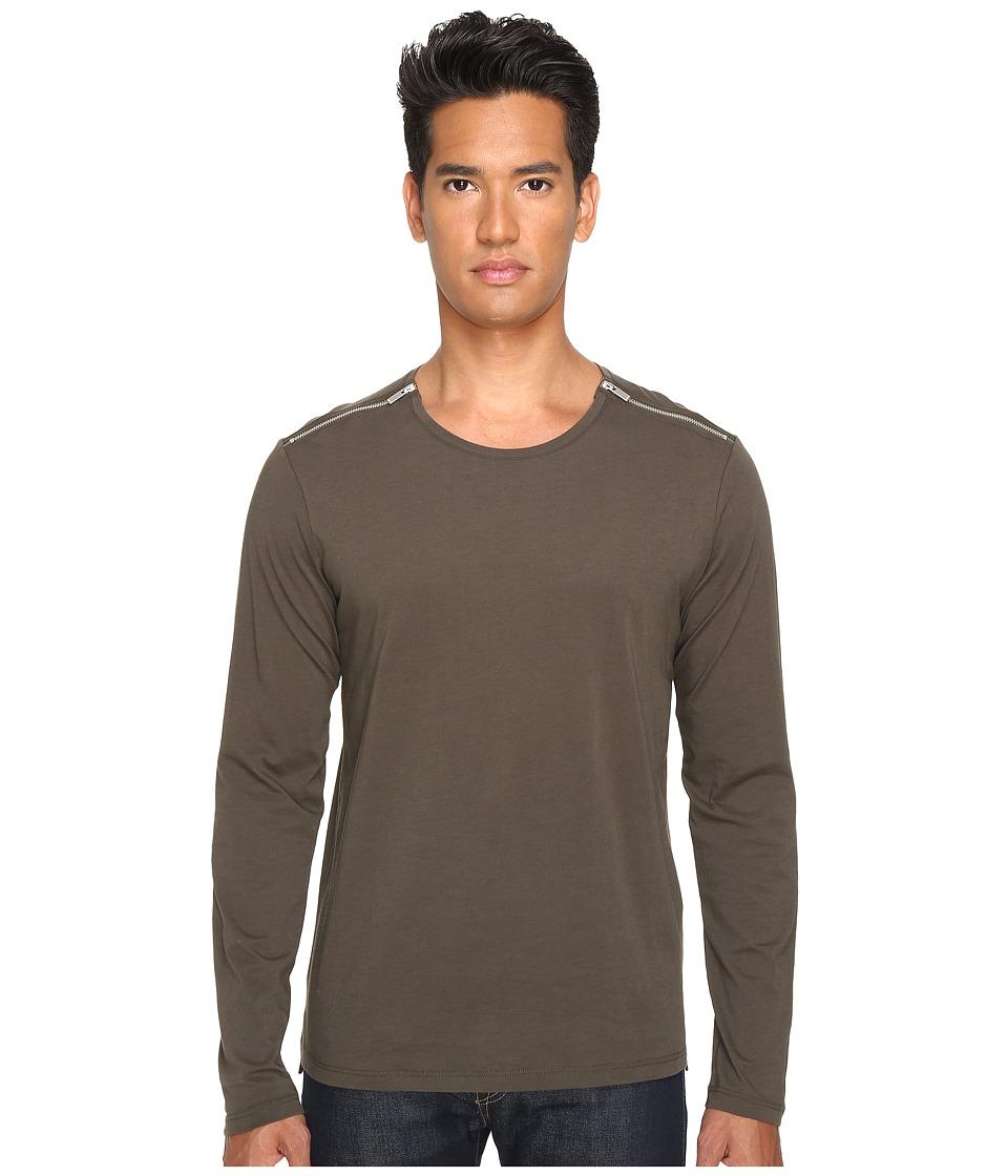The Kooples - Light Basic Cotton Zip Shirt