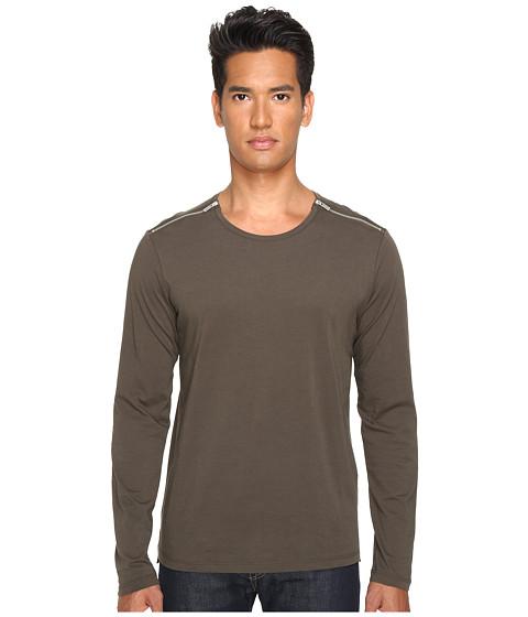 The Kooples Light Basic Cotton & Zip Shirt