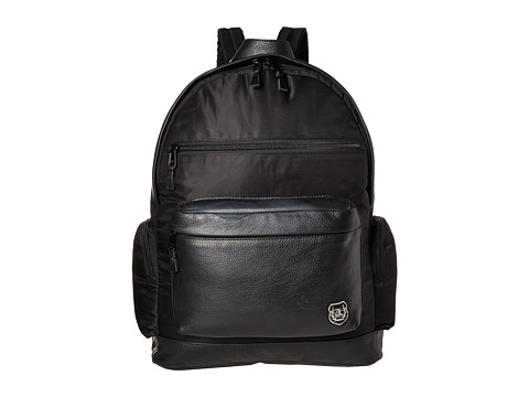 The Kooples Sport Nylon and Leather Backpack - Black