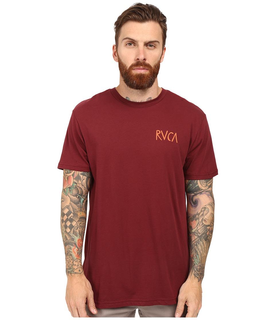 RVCA - Flip Flop Box T-Shirt (Tawny Port) Men