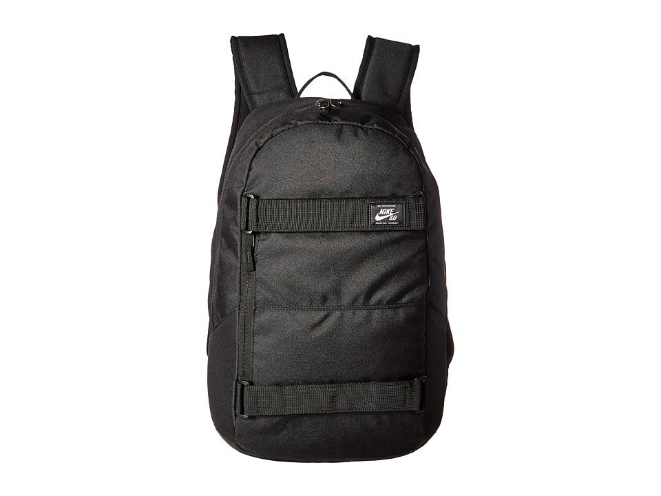Nike - SB Courthouse Backpack (Black/Black/White) Backpack Bags