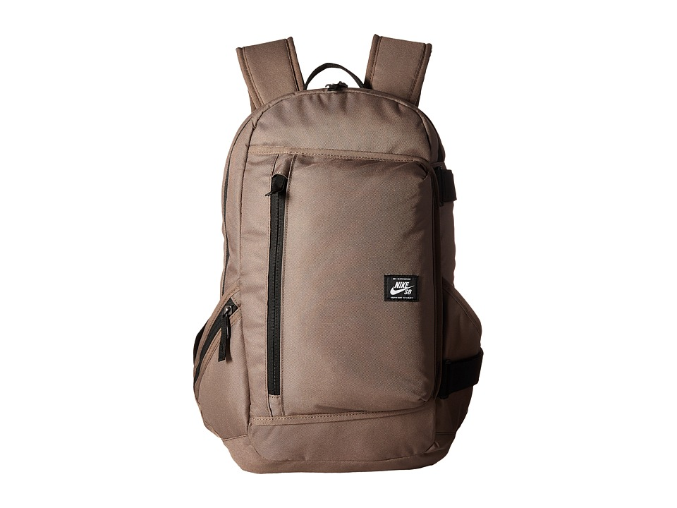 Nike SB Shelter Backpack (Dark Mushroom/Dark Mushroom/White) Backpack Bags