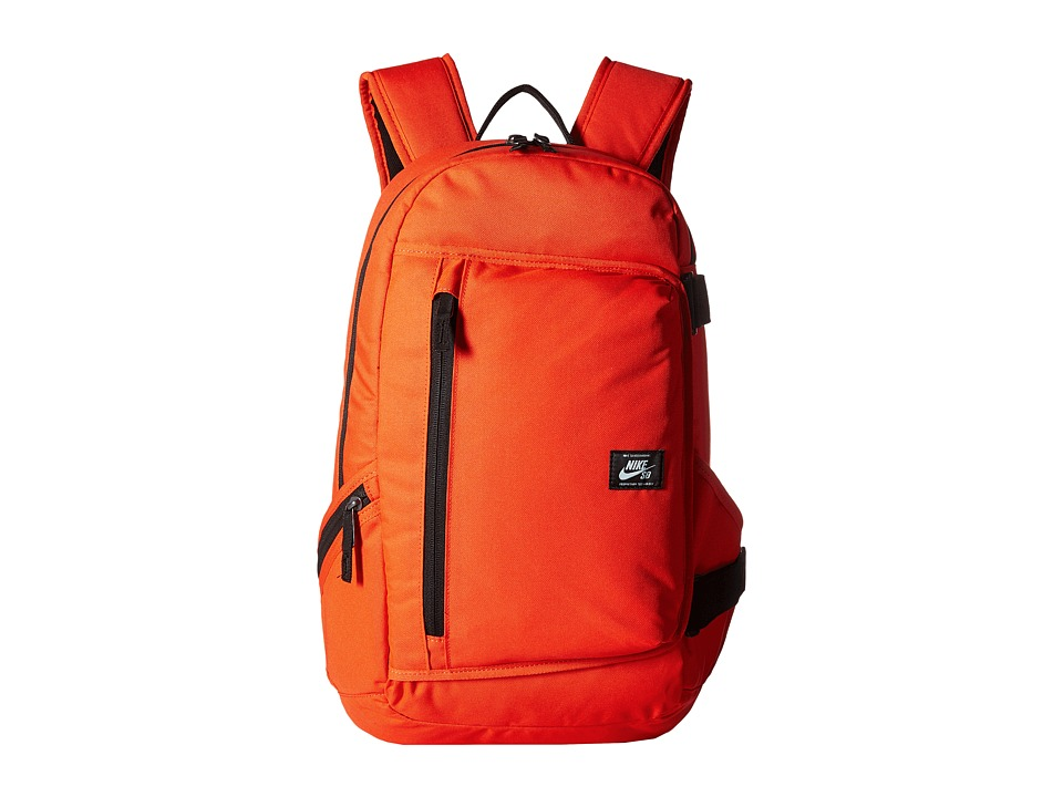Nike SB Shelter Backpack (Max Orange/Max Orange/White) Backpack Bags