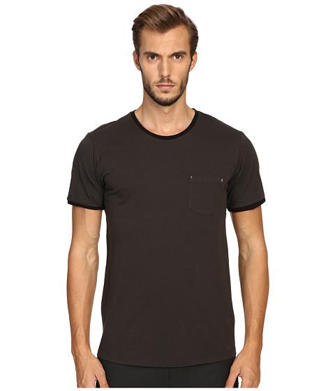 The Kooples River Skull Pocket Crew Neck T-Shirt - Khaki