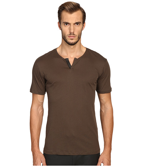The Kooples Cotton & Leather T-Shirt