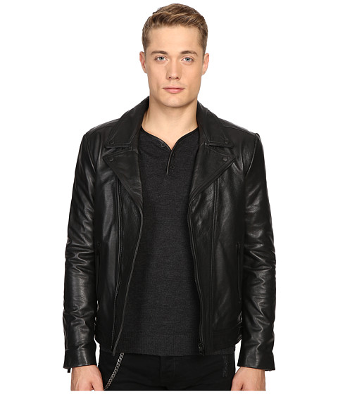 The Kooples Faded Leather Motorcycle Jacket