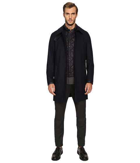 The Kooples Flannel Trenchcoat w/ Removable Waistcoat