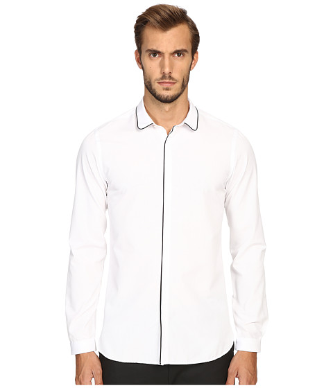 The Kooples Classic Collar Shirt w/ Navy Piping