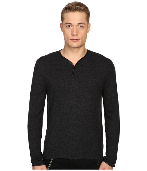 The Kooples Officer Collar Pullover w/ Placket