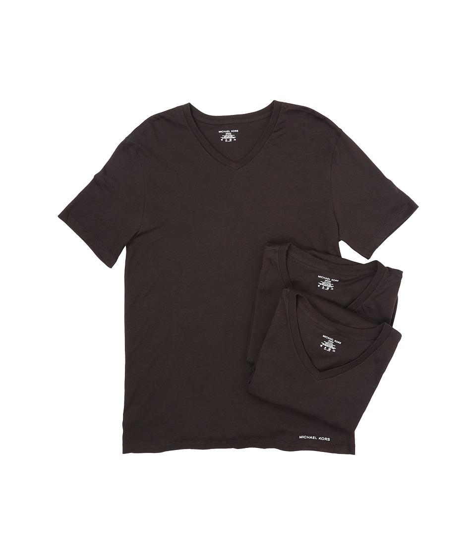 Michael Kors - Essentials V-Neck T-Shirt 3-Pack (Black) Men's Underwear