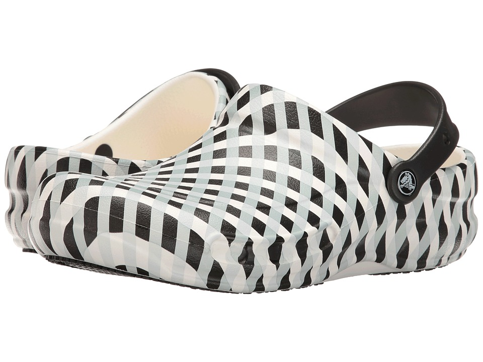 Crocs - Bistro Gingham (White) Clog Shoes