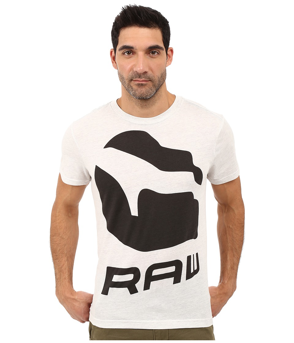 G-Star - Forceq Short Sleeve Tee in NY Jersey (White Heather) Men