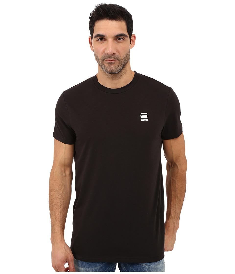 G-Star - Rence Short Sleeve Tee in Wigston Stretch Jersey (Black) Men