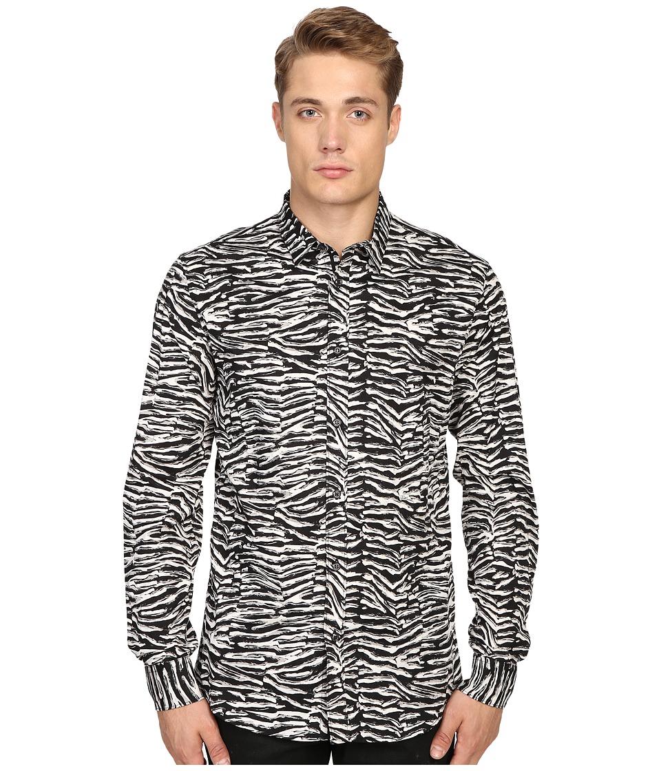 Just Cavalli - Slim Fit Zebra Vibe Print Shirt (Black Variant) Men