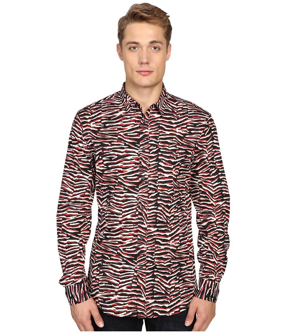 Just Cavalli - Slim Fit Swallow Print Shirt (True Red Variant) Men